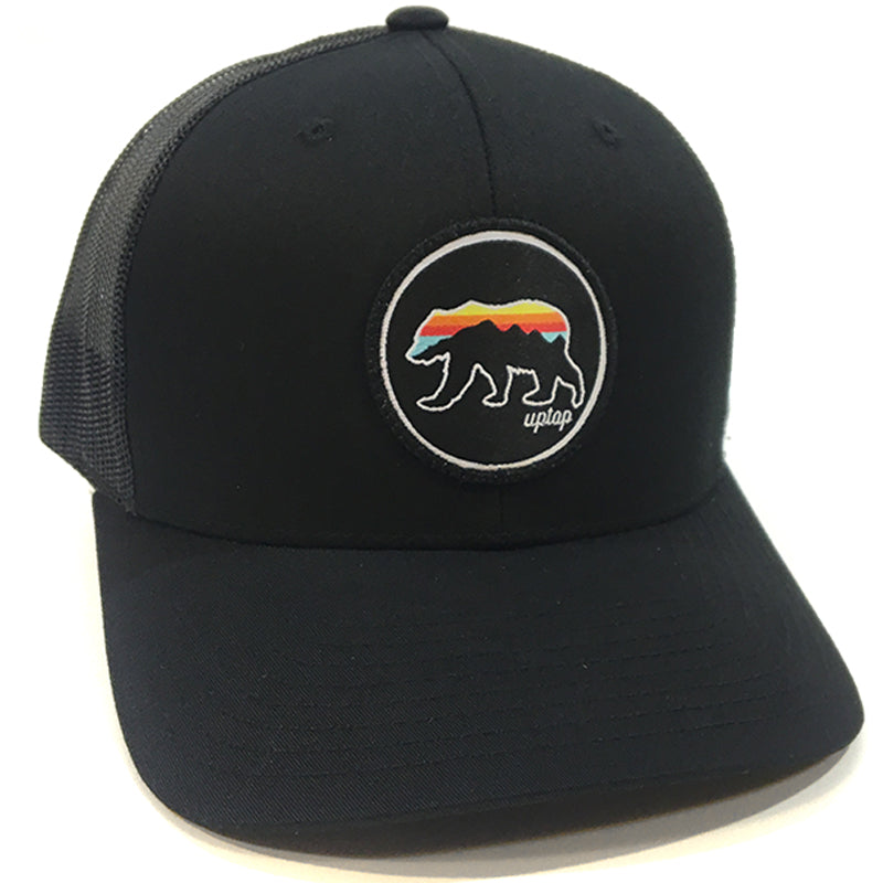 UPTOP GRIZZLY SUNSET RETRO TRUCKER HAT