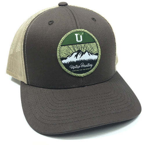 UPTOP HUNTING 2.0 RETRO TRUCKER HAT - BROWN/KHAKI
