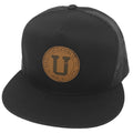 UPTOP BRANDED LEATHER TRUCKER HAT