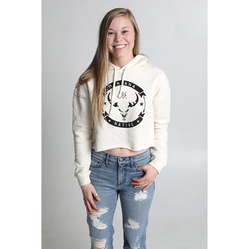 UPTOP MONTANA NATIVE CROPPED HOODIE