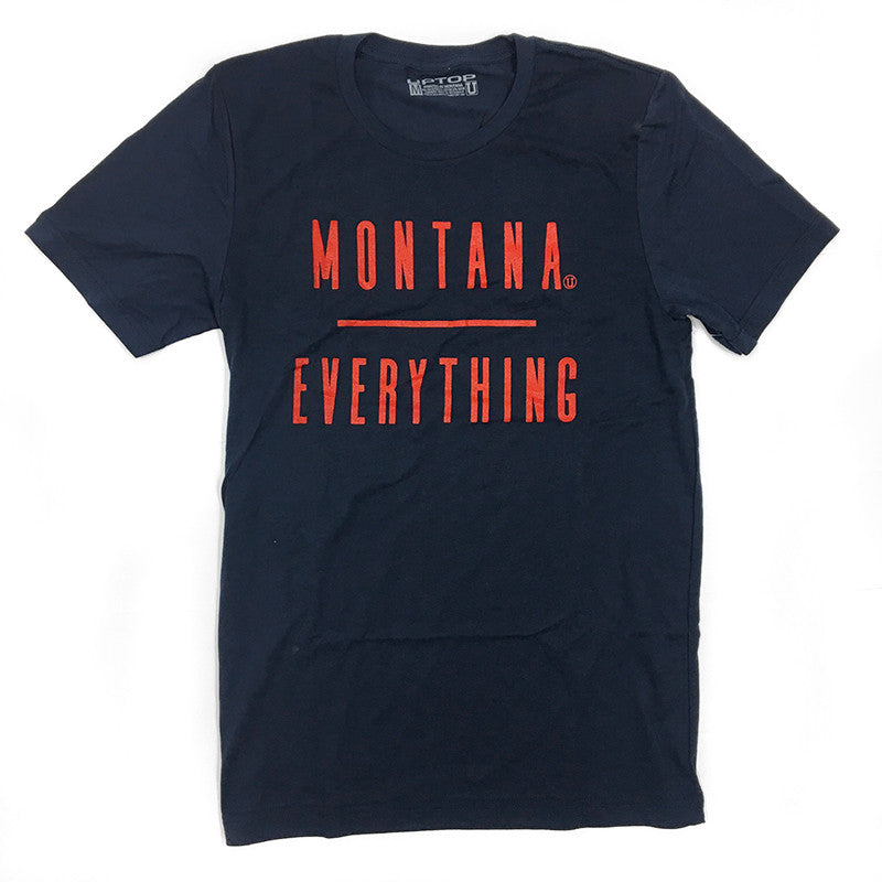 MONTANA / EVERYTHING TRIBLEND UPTOP TEE - NAVY/RED