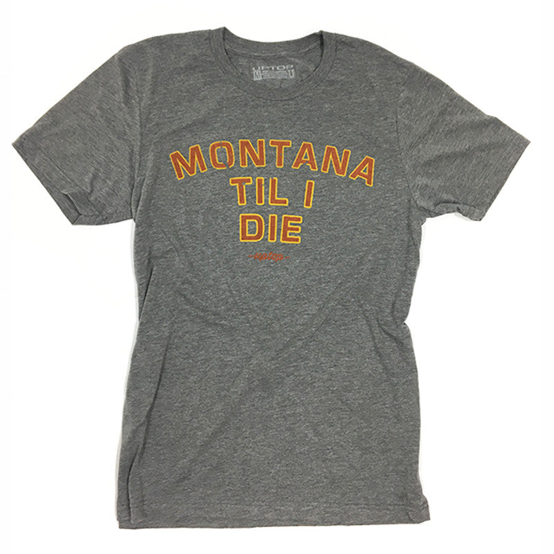 MONTANA TIL I DIE TRIBLEND TEE - GREY/COPPER