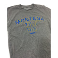 MONTANA TIL I DIE TRIBLEND TEE - GREY/ROYAL