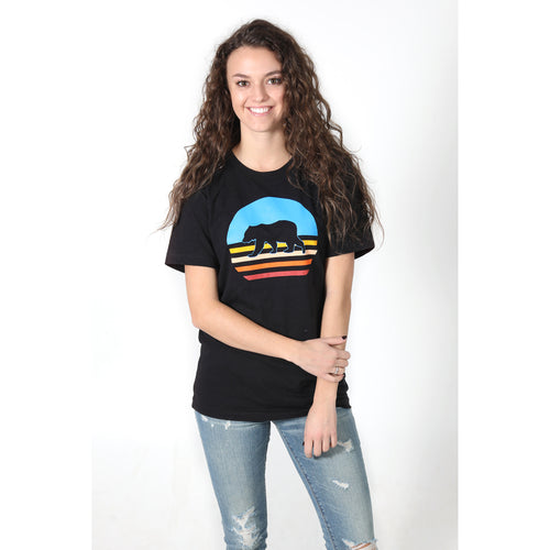 UPTOP WALKING SUNSET BOYFRIEND TEE