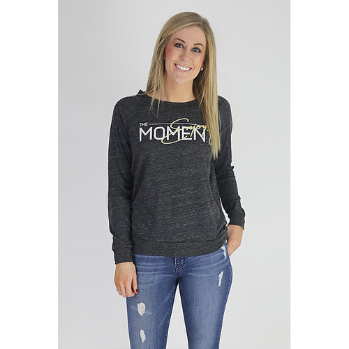 UPTOP SCRIPT MOTTO SLOUCHY PULLOVER