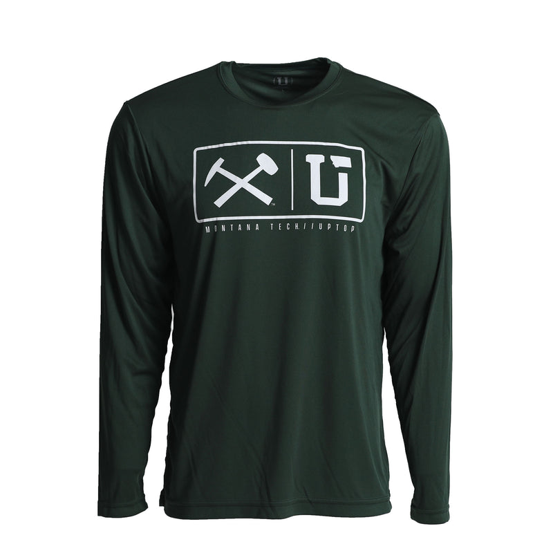 MONTANA TECH ENDZONE PERFORMANCE LONG SLEEVE TEE