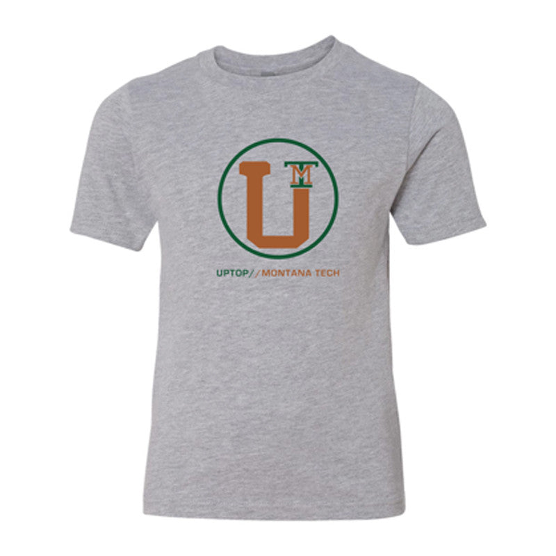 UPTOP YOUTH MONTANA TECH TRIBLEND TEE - GREY