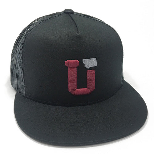 UPTOP UT MT TRUCKER HAT - BLACK/MAROON