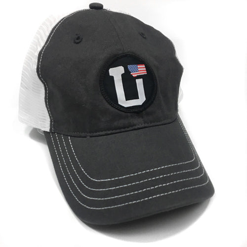 UPTOP UT-MONTANA USA FLAG RELAXED TRUCKER HAT