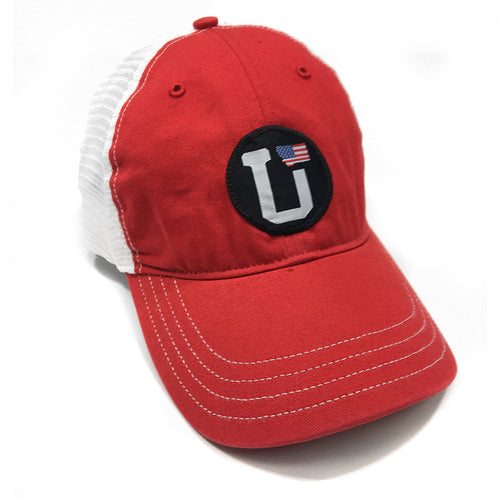 UPTOP UT MONTANA USA FLAG RELAXED TRUCKER HAT