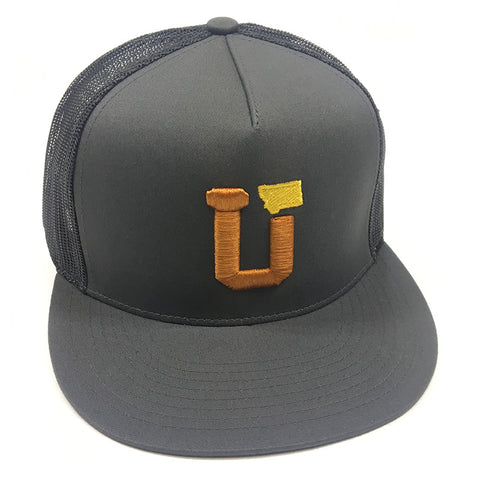 UPTOP UT MT TRUCKER HAT - CHARCOAL/COPPER