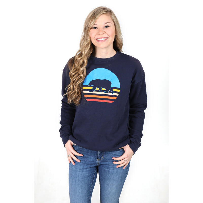 UPTOP WALKING SUNSET SPONGE FLEECE SWEATSHIRT