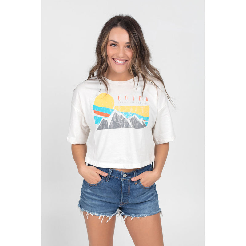 UPTOP WAVY CROPPED TEE