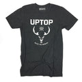 UPTOP WESTERN SKULL TRIBLEND TEE - CHARCOAL