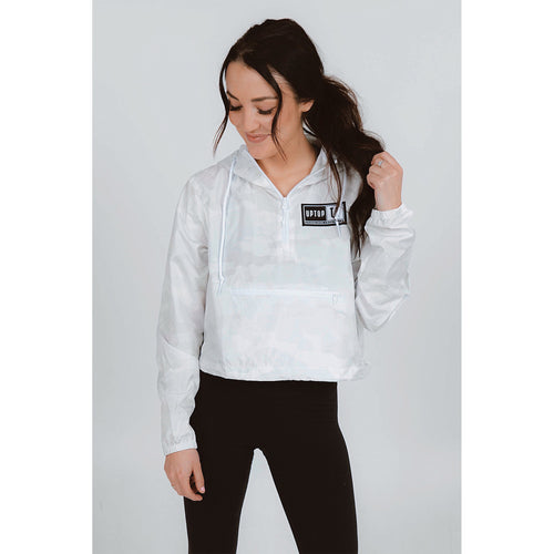 UPTOP / WOMEN'S 1/2 ZIP CROP WINDBREAKER