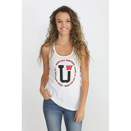 HOME OF THE BULLDOGS RACERBACK TANK