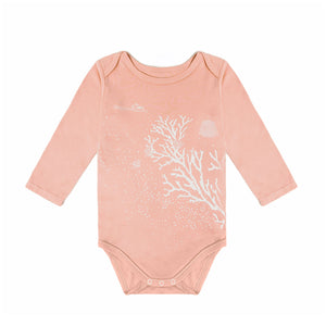 Modal Long Sleeved Onesie- Red Coral