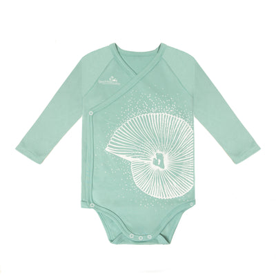 Long Sleeved Kimono- Green Seashell