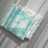Nature's Print Snorkeling Seastar - Cotton Muslin Swaddle Blanket