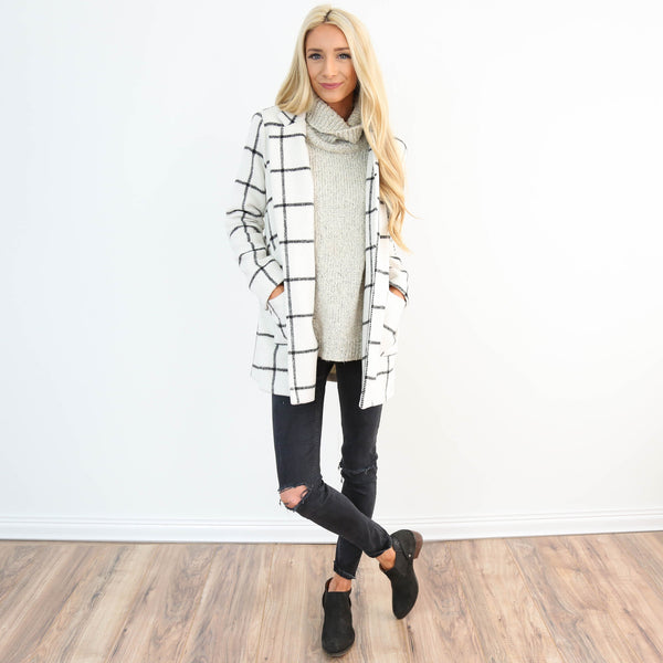 Breya Check Coat