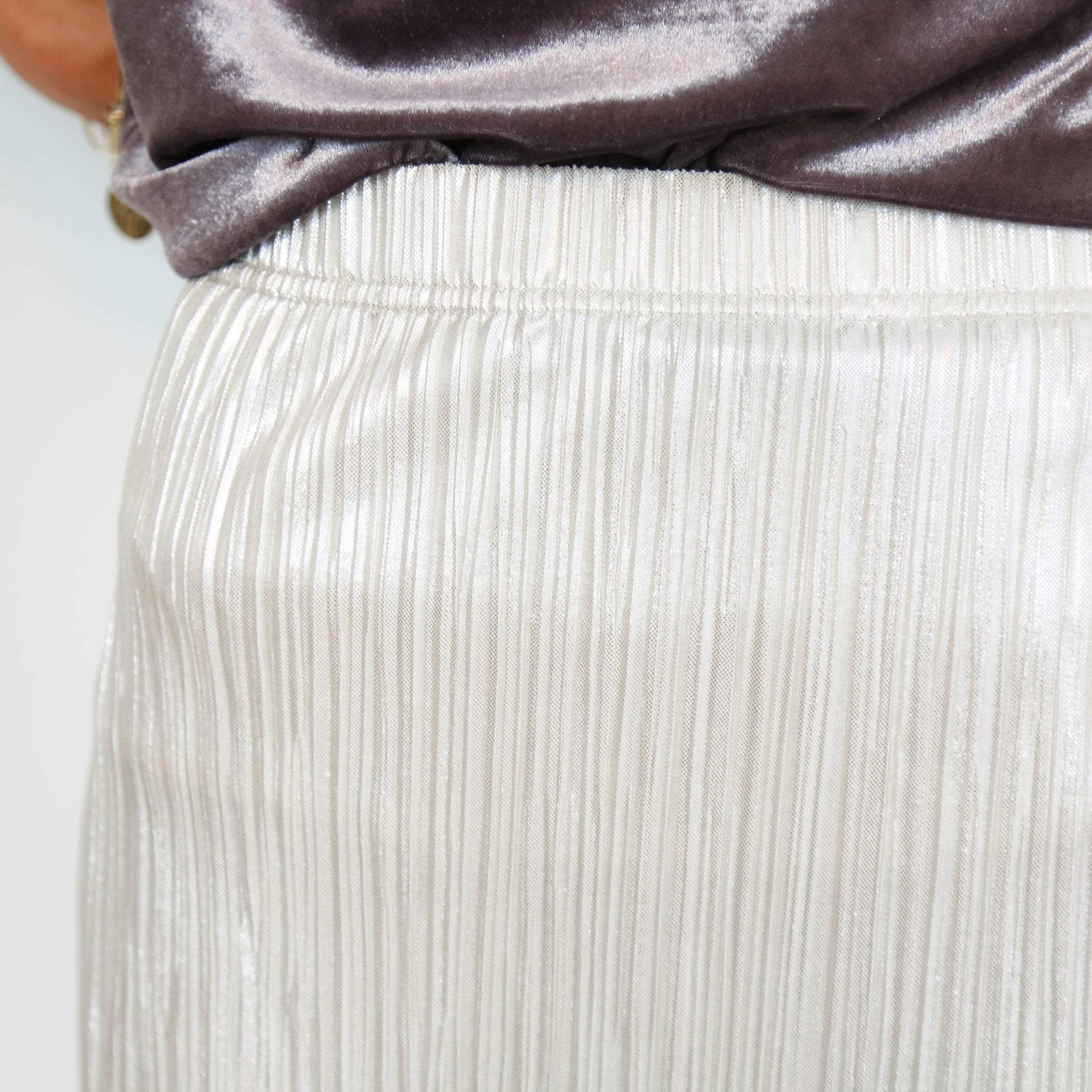 Gold Shore Pleated Skirt