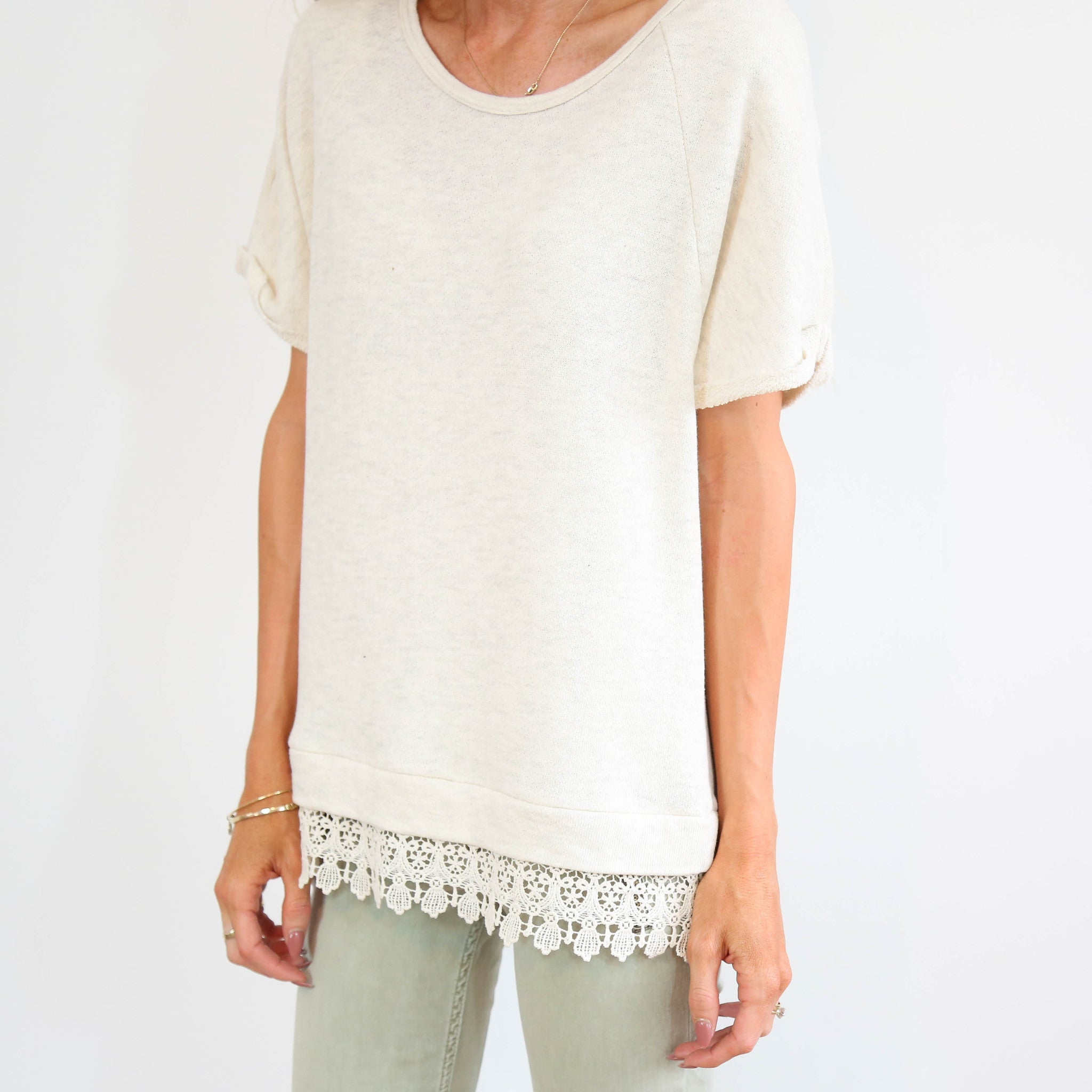 Antro Lace Detail Top