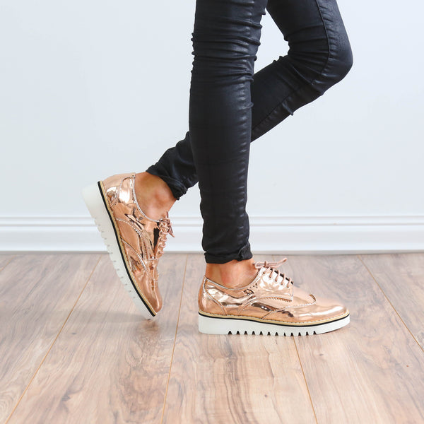 Jenn Rose Gold Oxfords