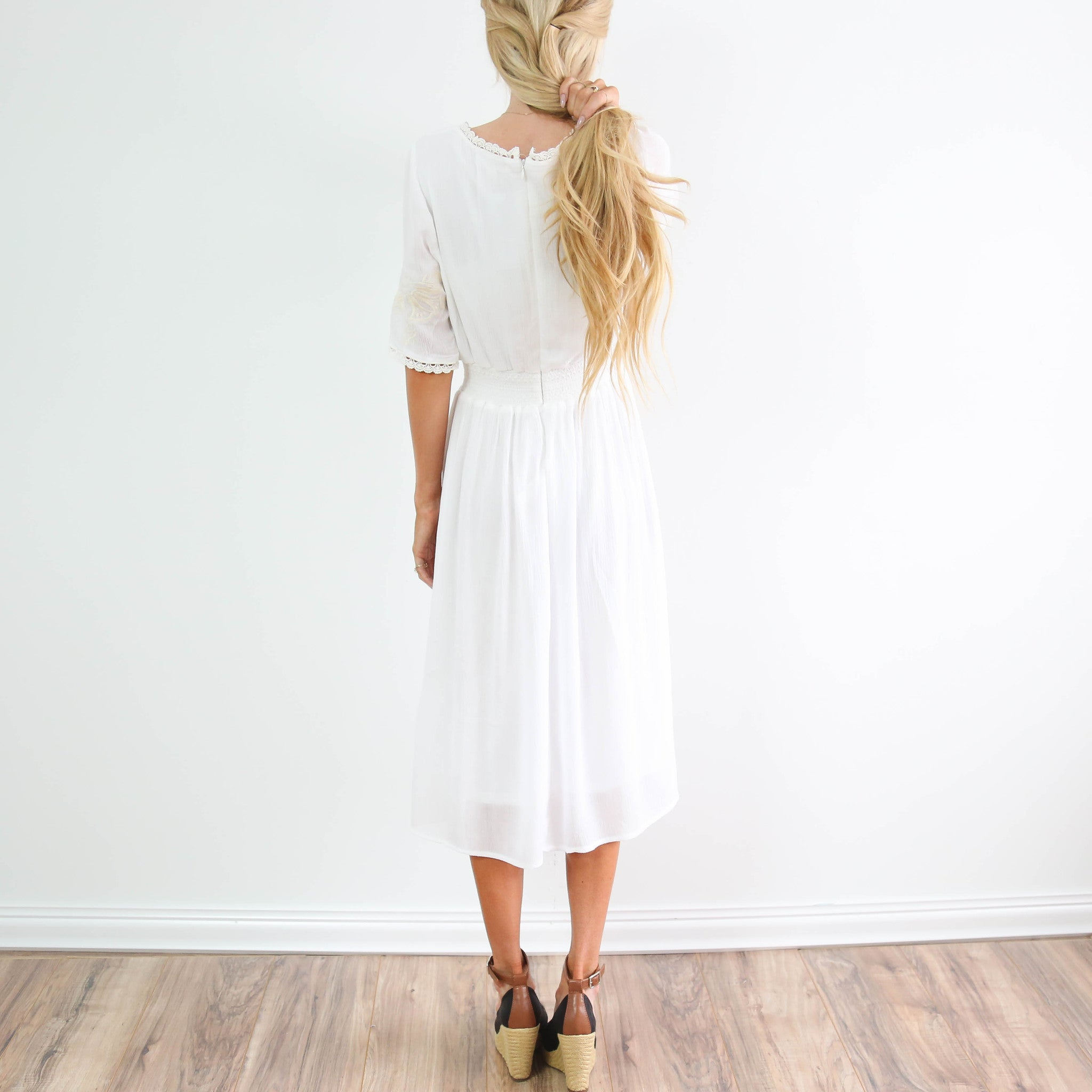 Audrina Ivory Maxi Dress
