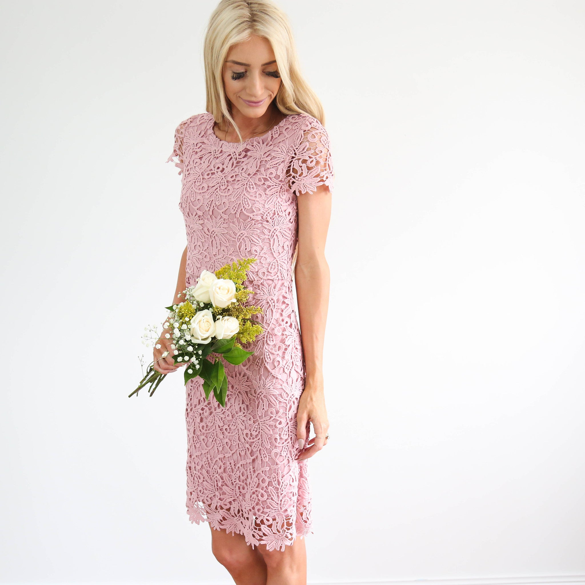 Olea Detailed Lace Dress