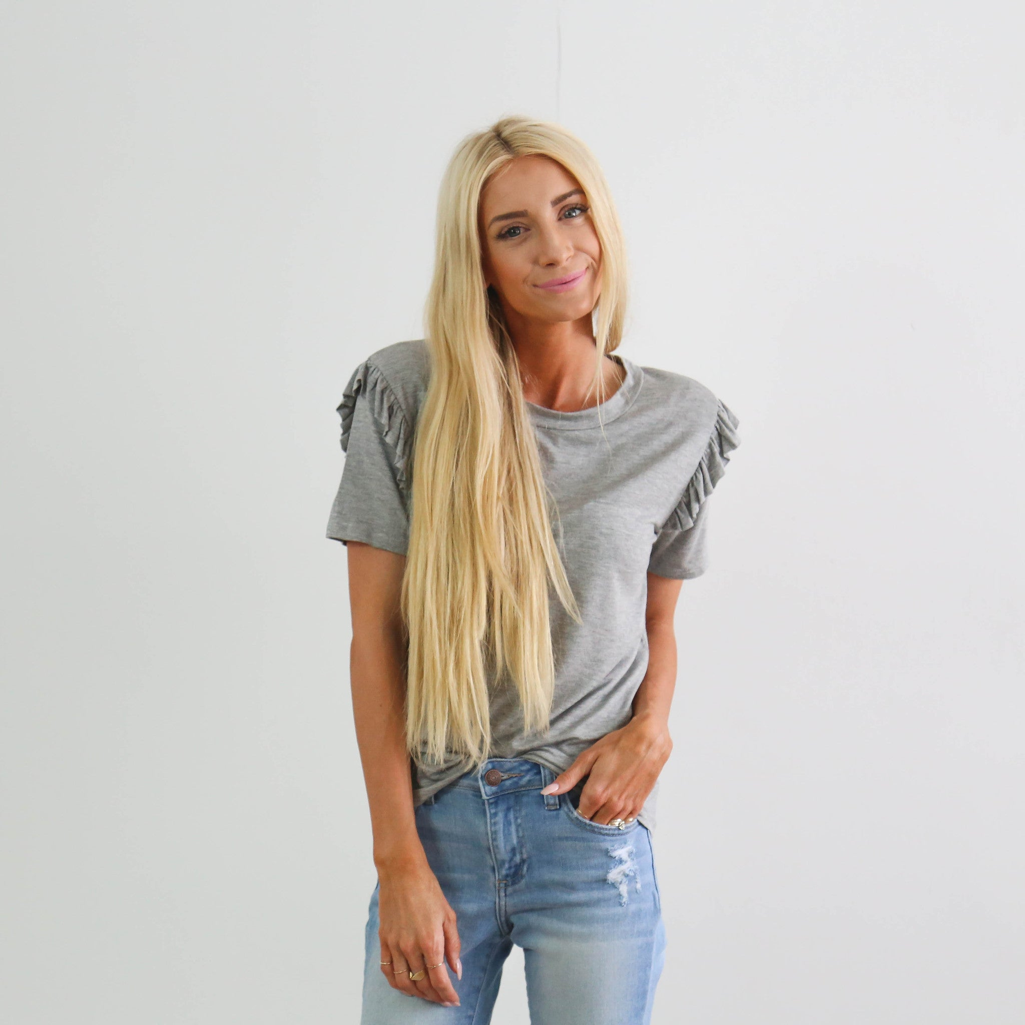 S & Co. Tava Ruffle Top