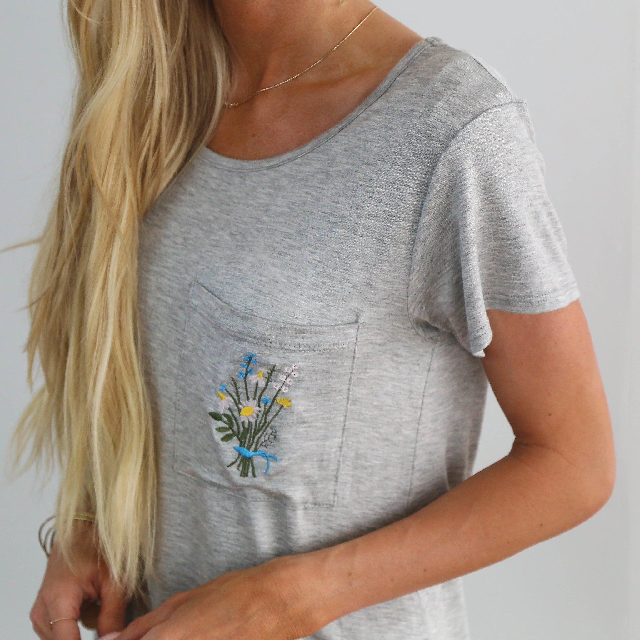 S & Co. Embroidered Pocket Tee