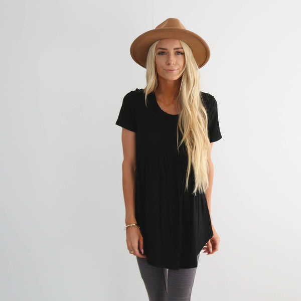 Jade Top in Black