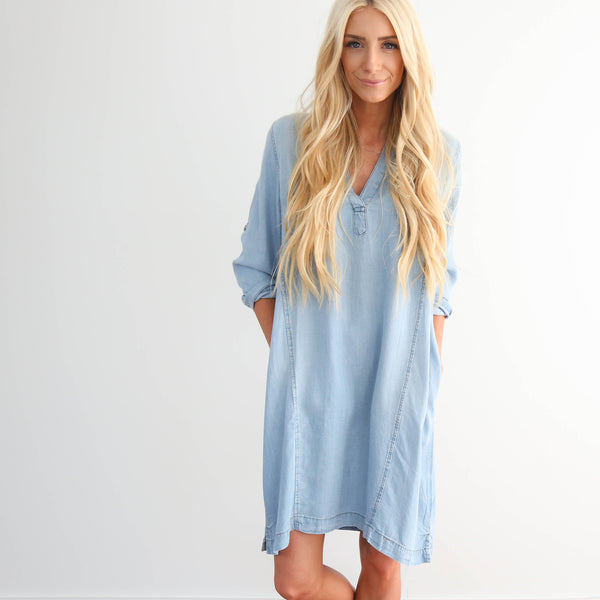 Light Wash Denim Dress