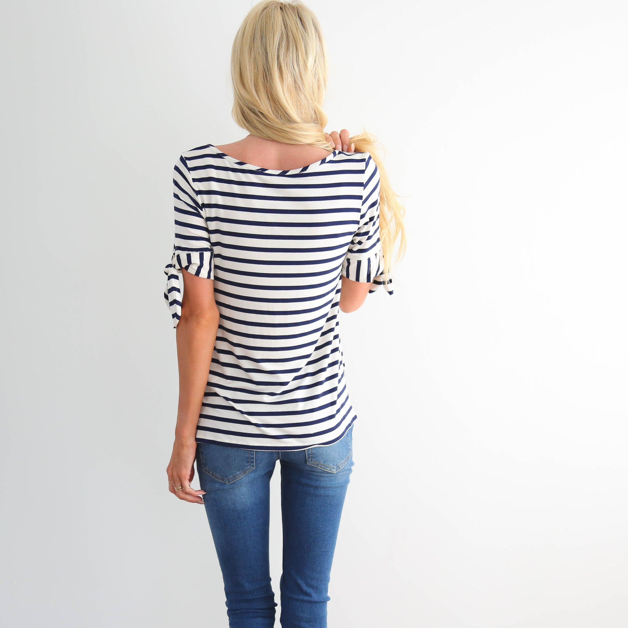 Newport Bow Sleeve Top