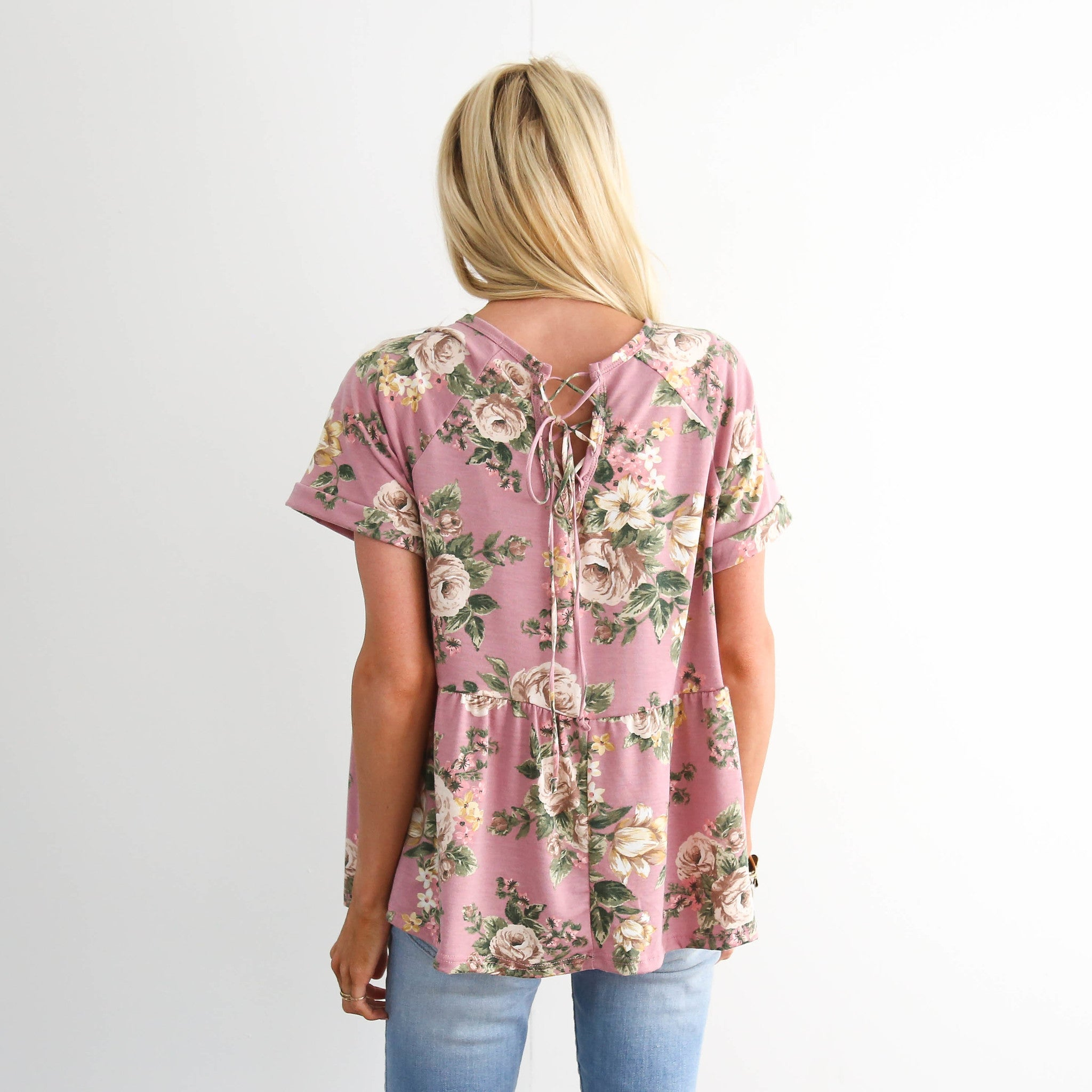 Tillie Flower Top in Mauve