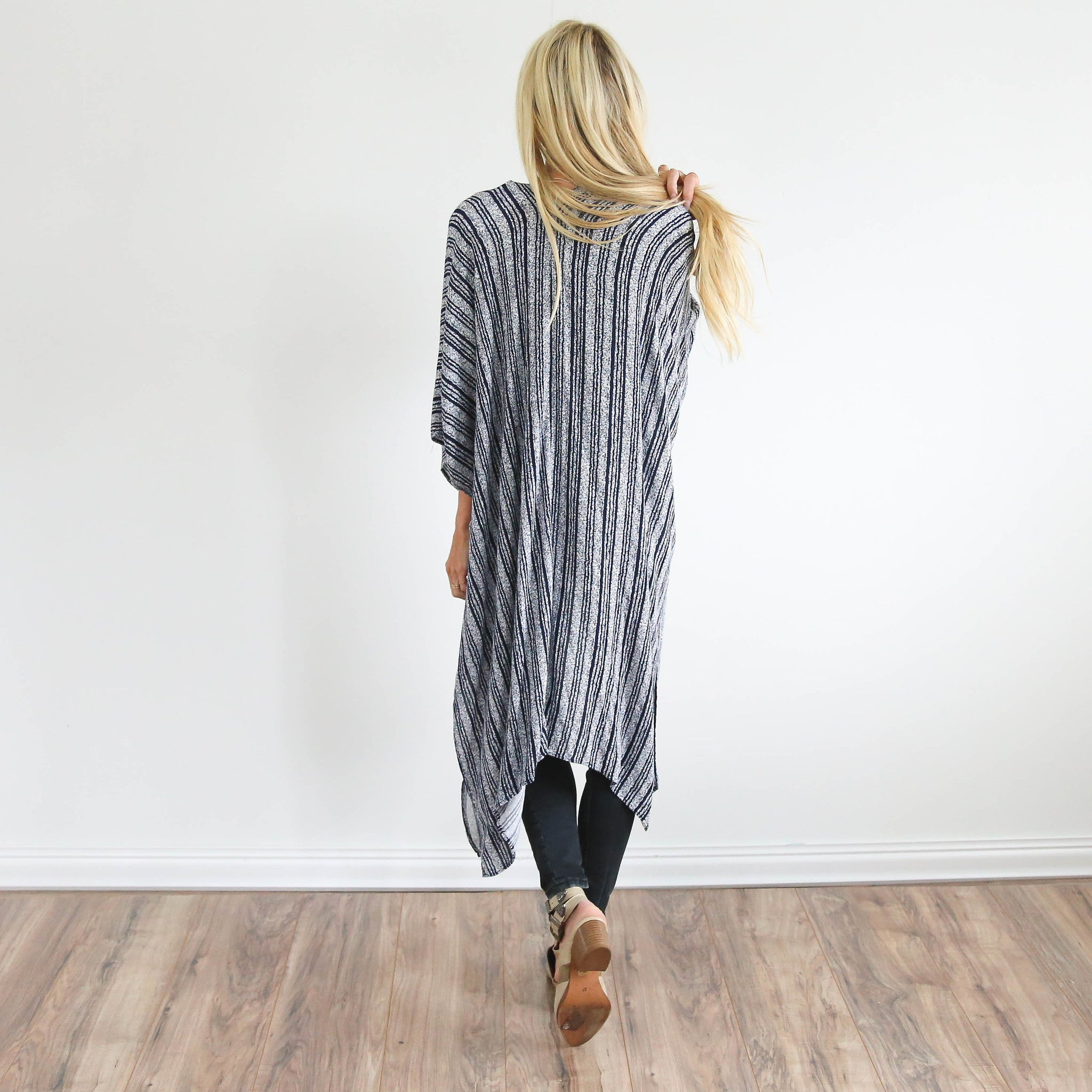 Willow Striped Kimono