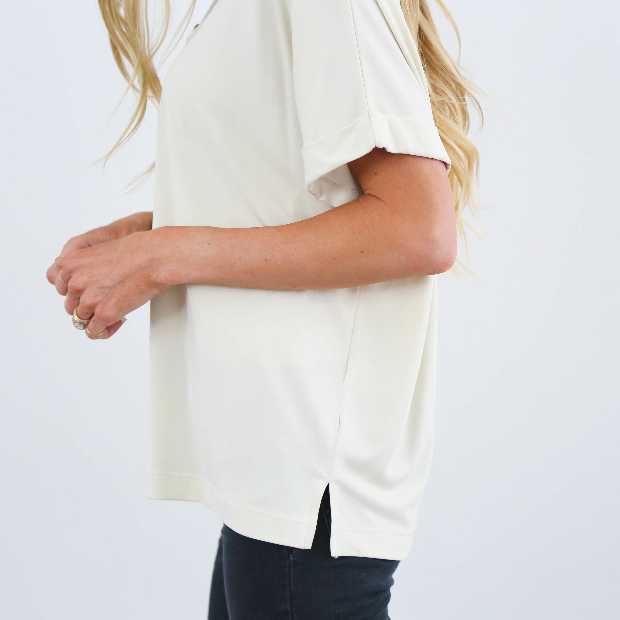 Sariah Cream V-Neck