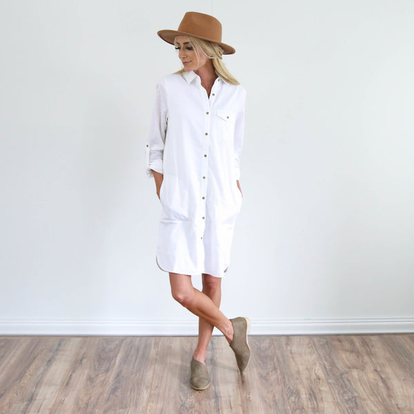 Mirabelle Button-Up Dress