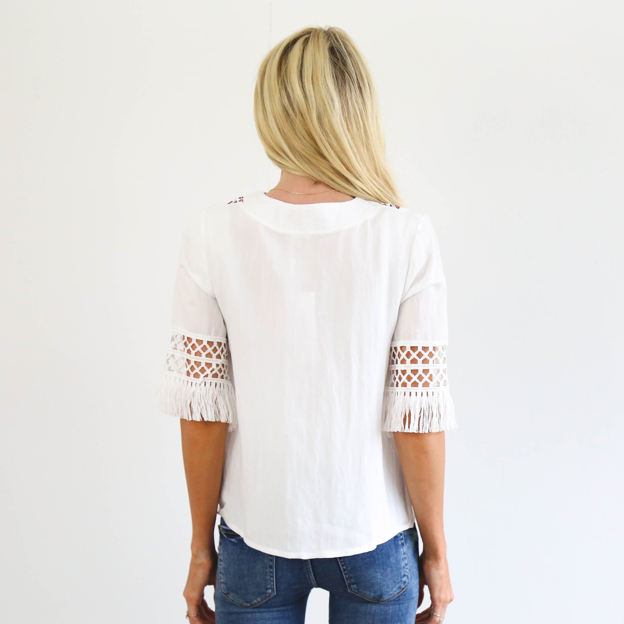 Torrance Embroidered Top