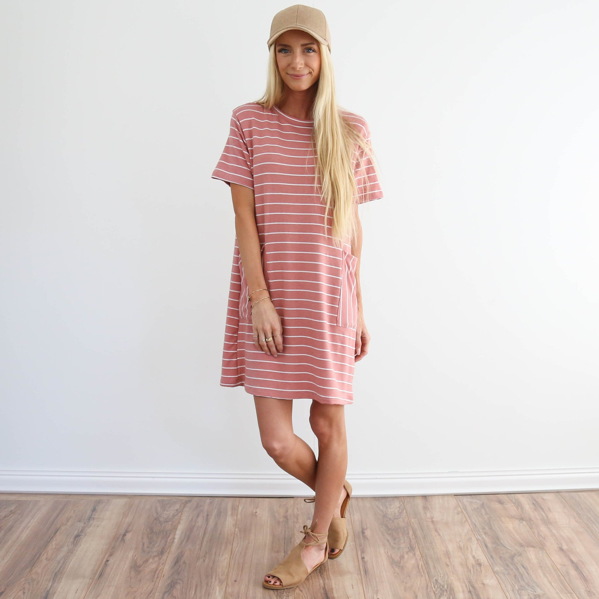 S & Co. Wynnie Pocket Dress in Mauve