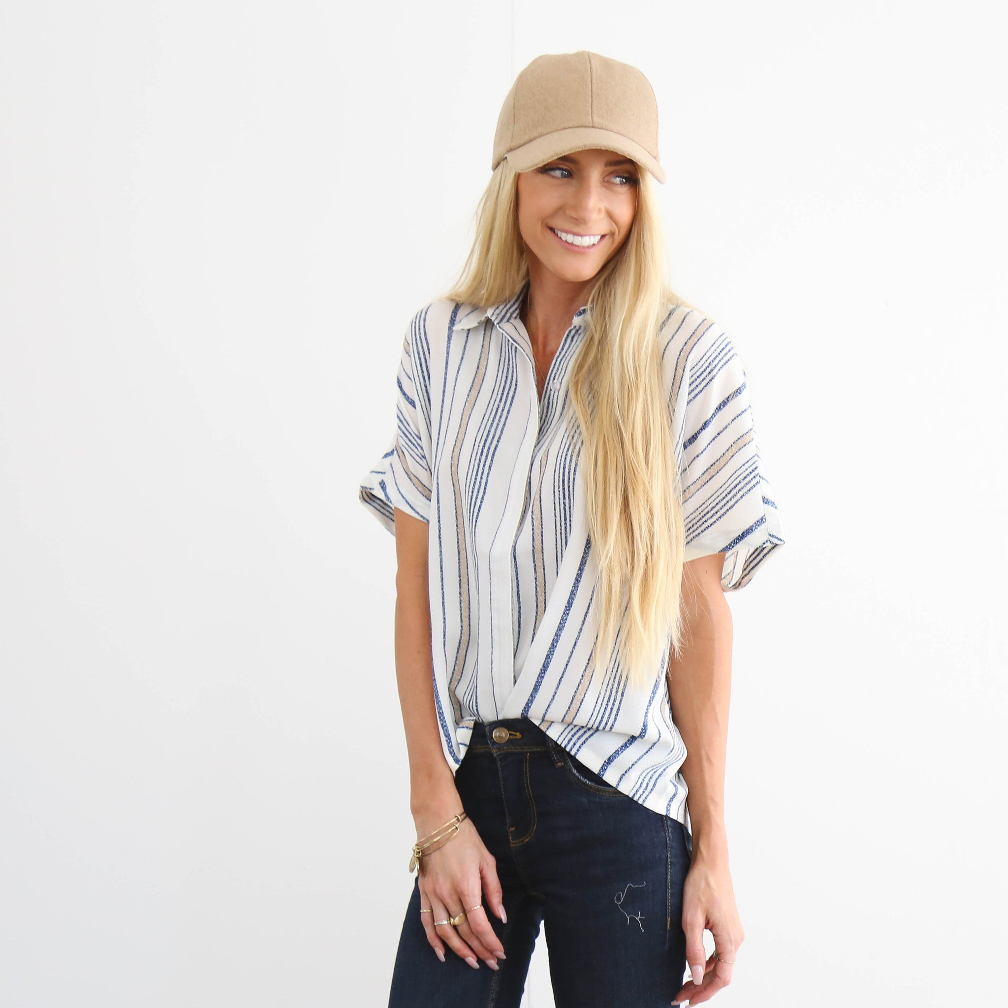 Shay Stripe Button Up