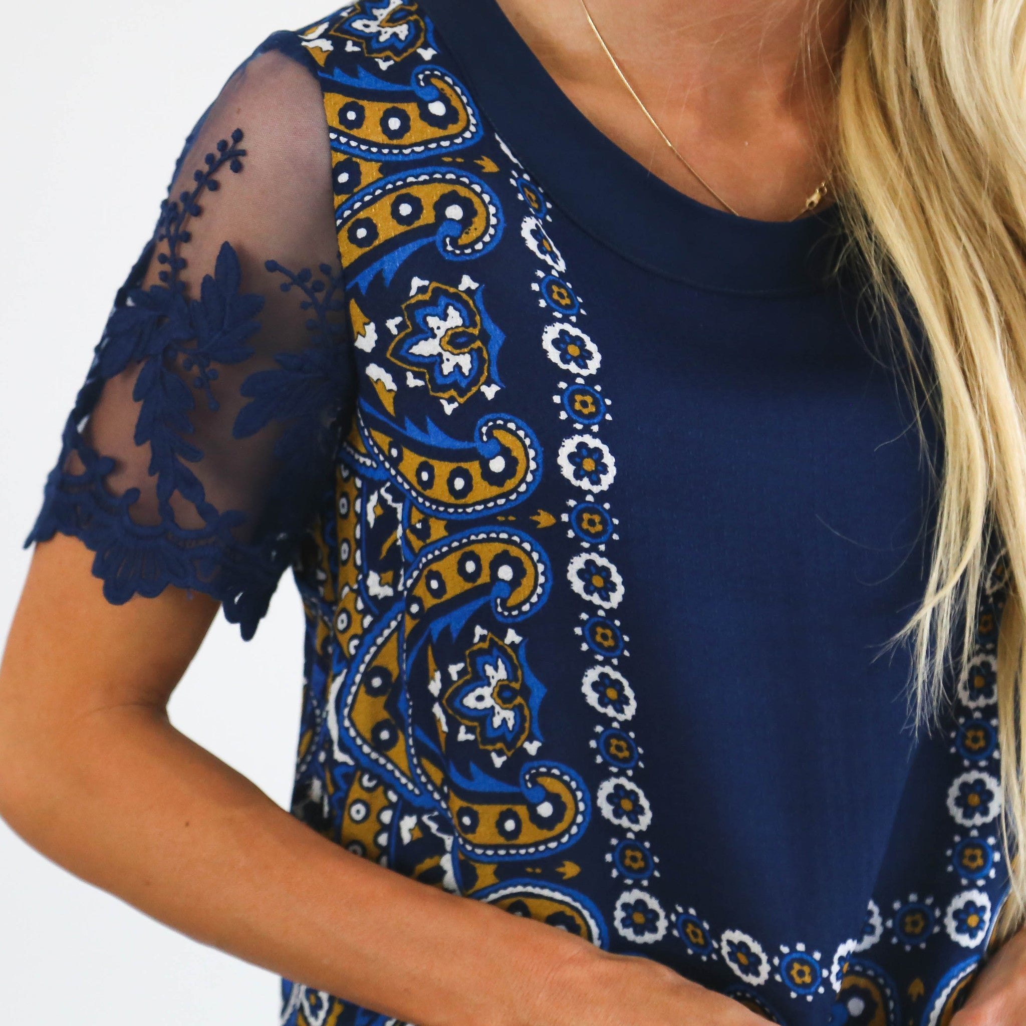 Sia Lace Sleeve Top