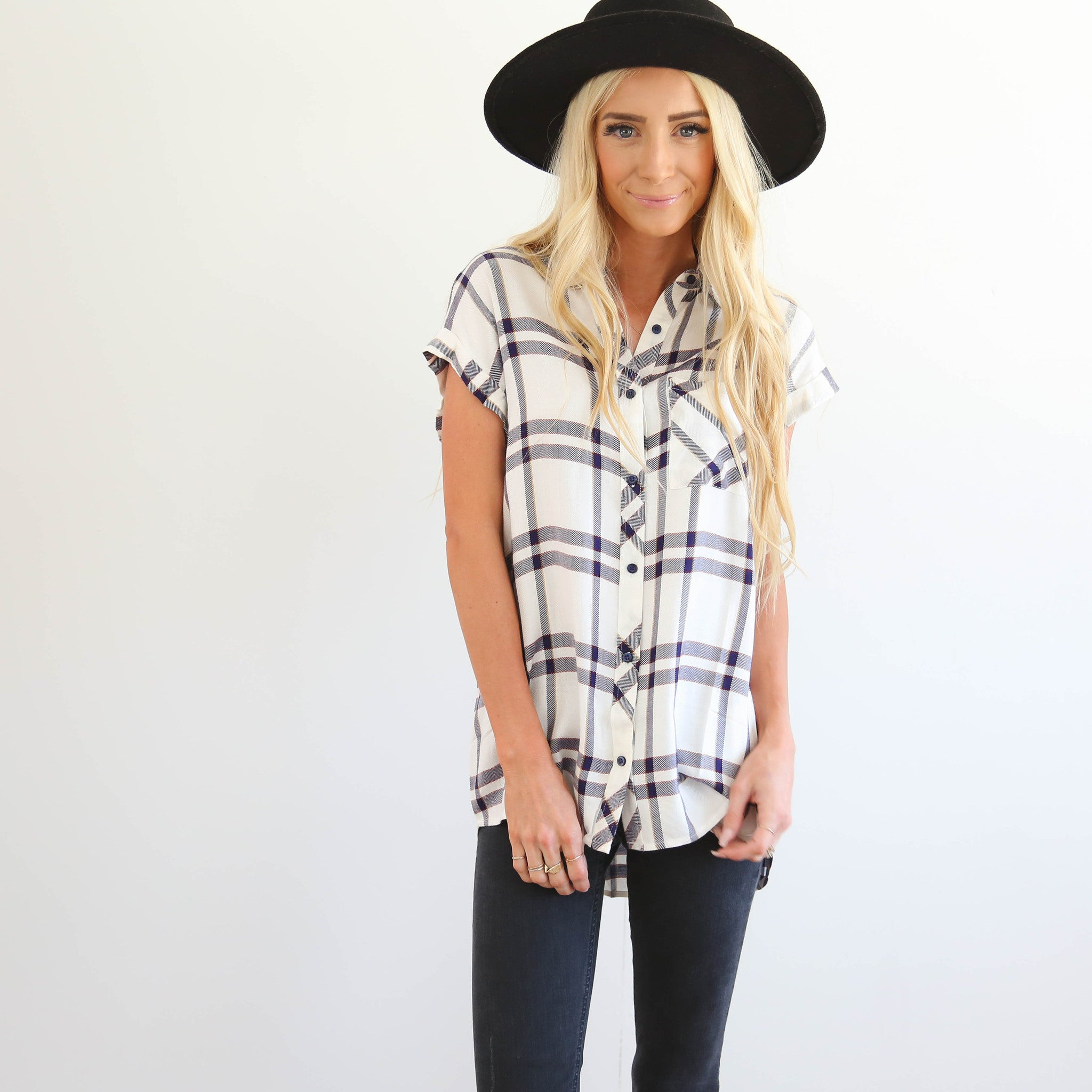 Dolman Plaid Top