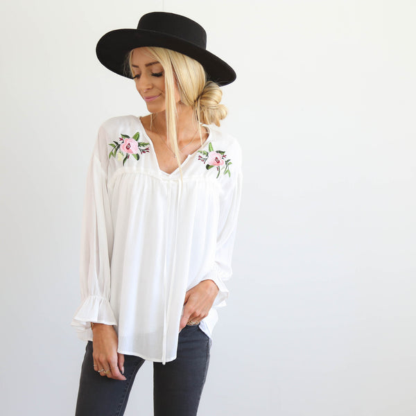 S & Co. Willa Embroidered Top