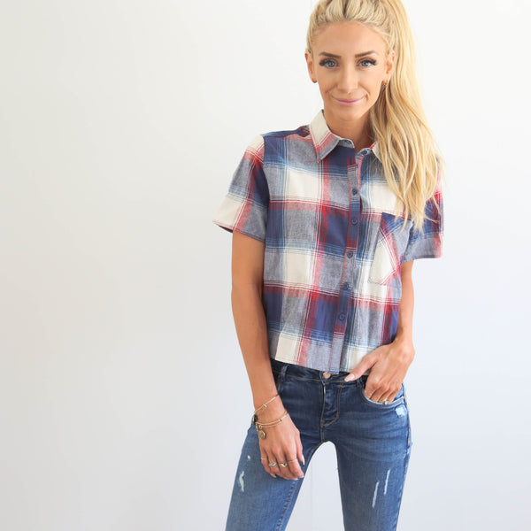 Miley Plaid Top