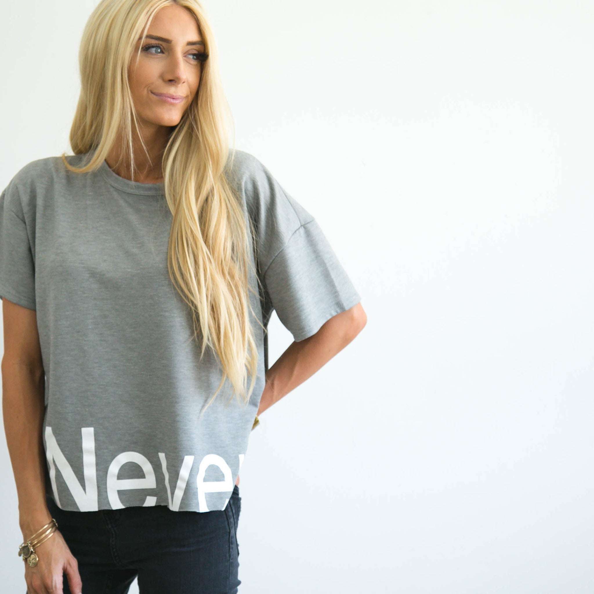Never Tee in Grey