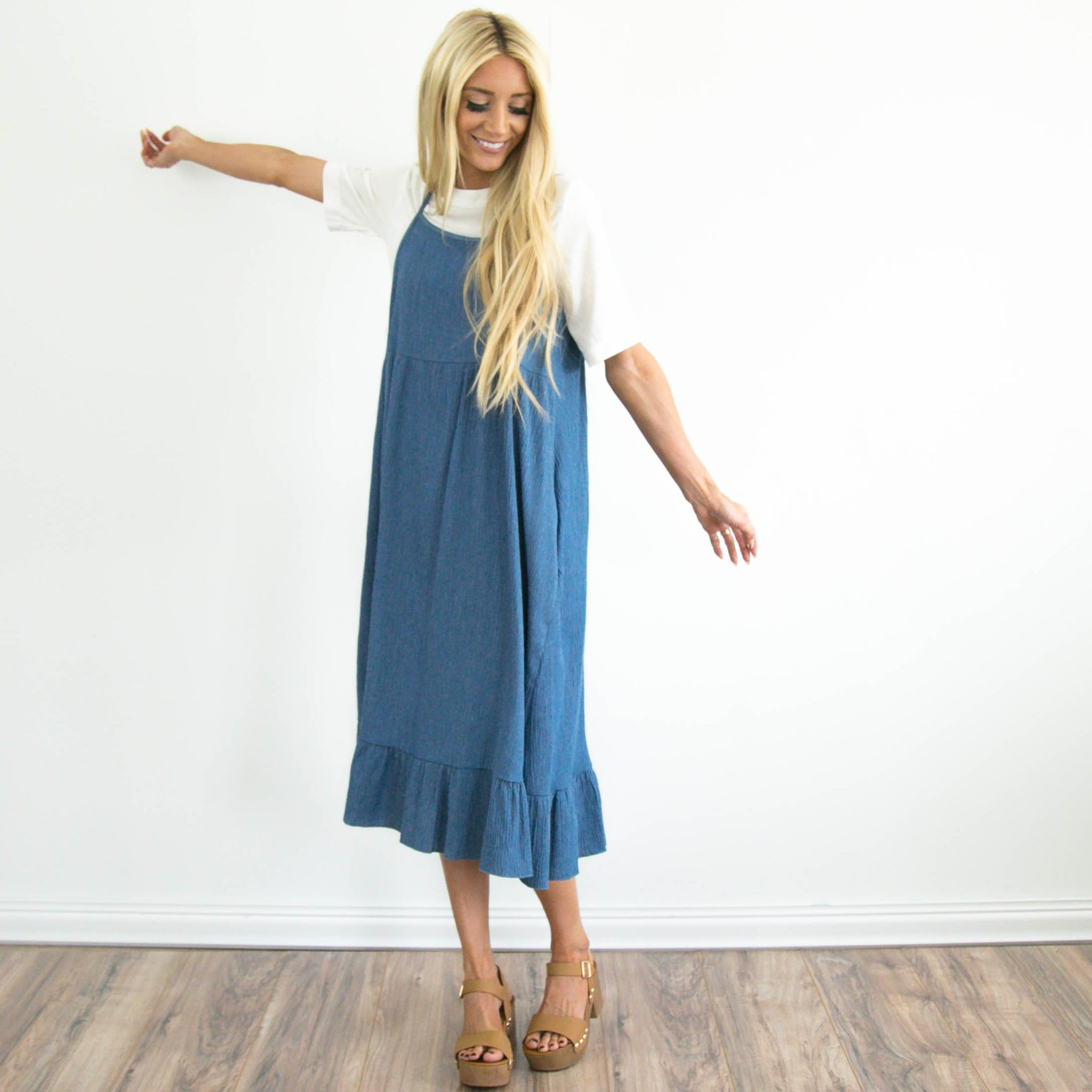 Denim Blue Garden Dress