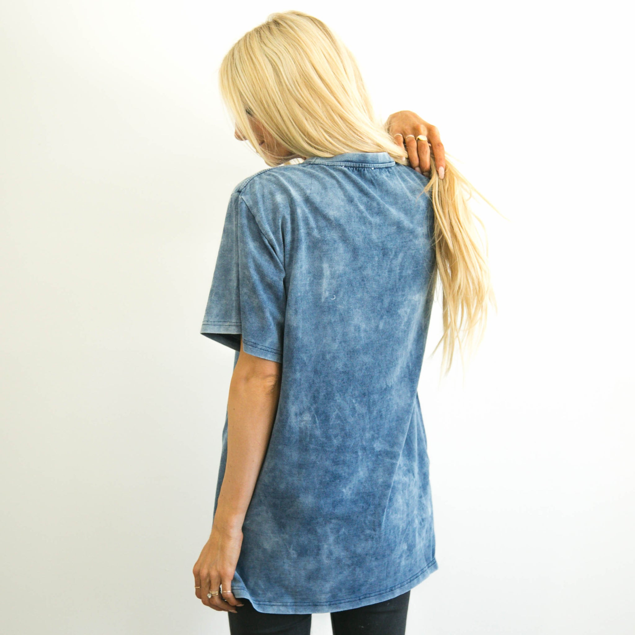 Tea Faded Blue Top