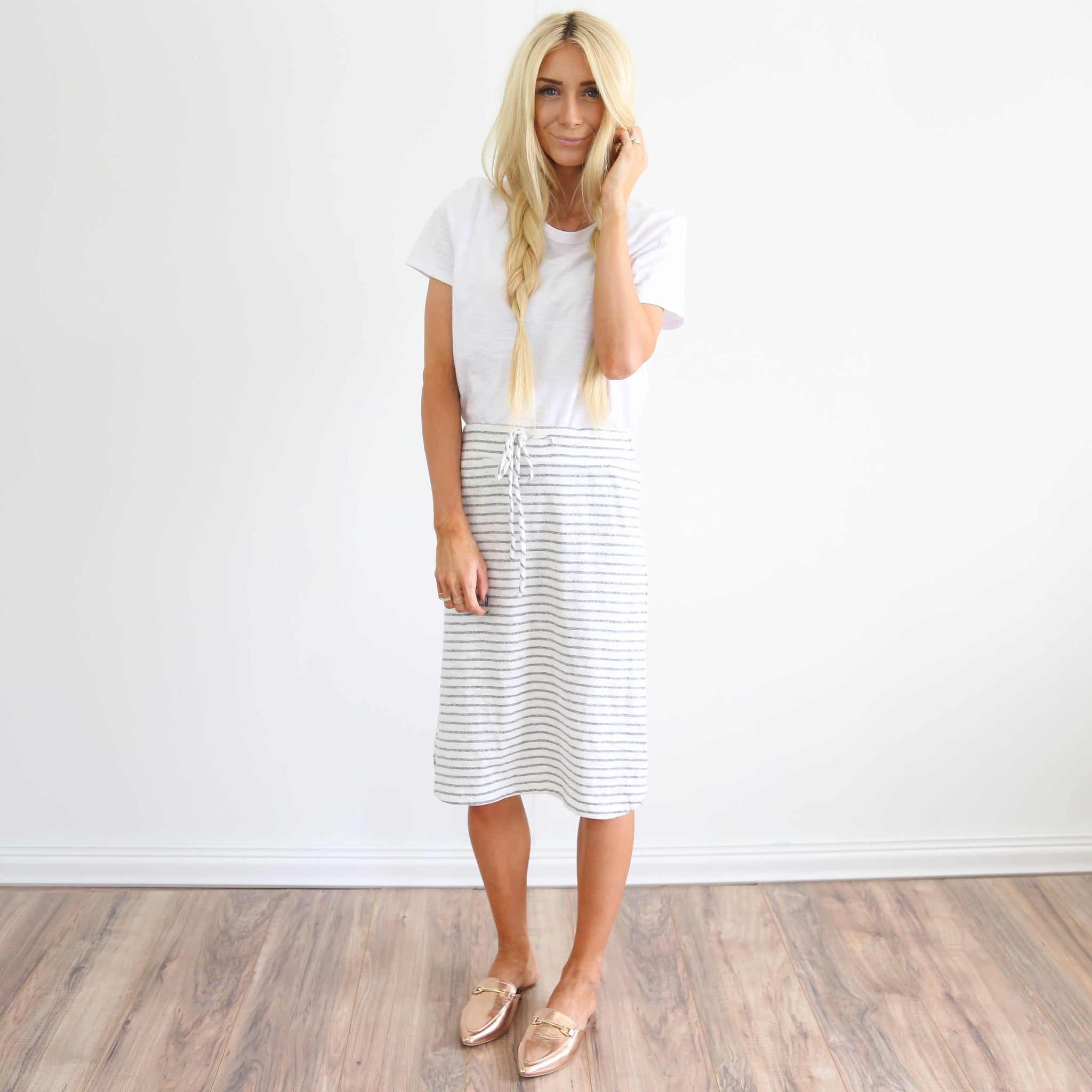 Cassie Stripe Skirt