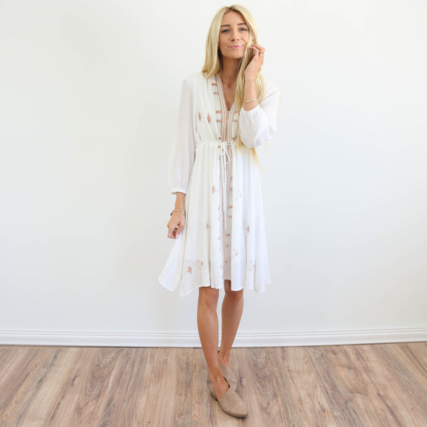 S & Co. Mae Embroidered Dress